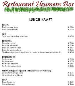 lunchkaart heumens bos NL